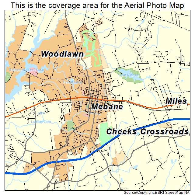 Aerial Photography Map Of Mebane Nc North Carolina