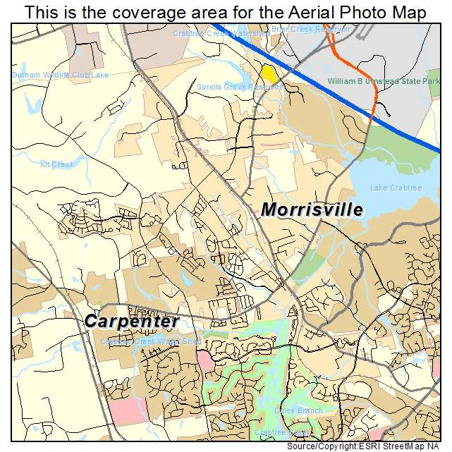 Aerial Photography Map Of Morrisville Nc North Carolina