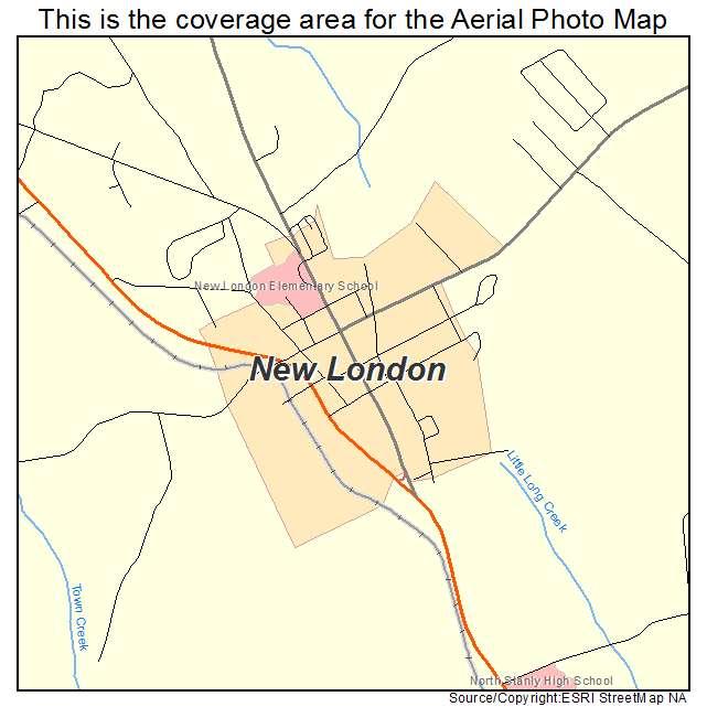 New London Nc Map.Aerial Photography Map Of New London Nc North Carolina