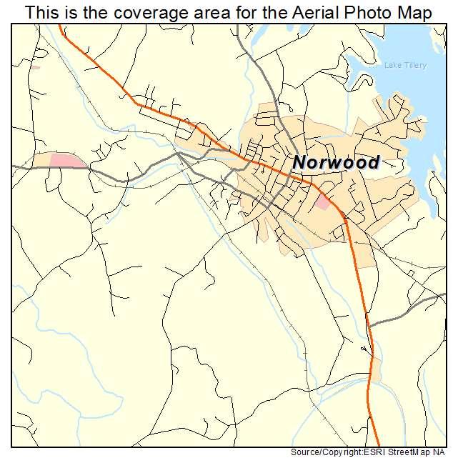 Norwood Nc Map.Aerial Photography Map Of Norwood Nc North Carolina