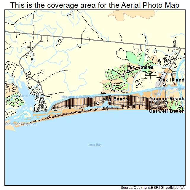 Aerial Photography Map Of Oak Island Nc North Carolina