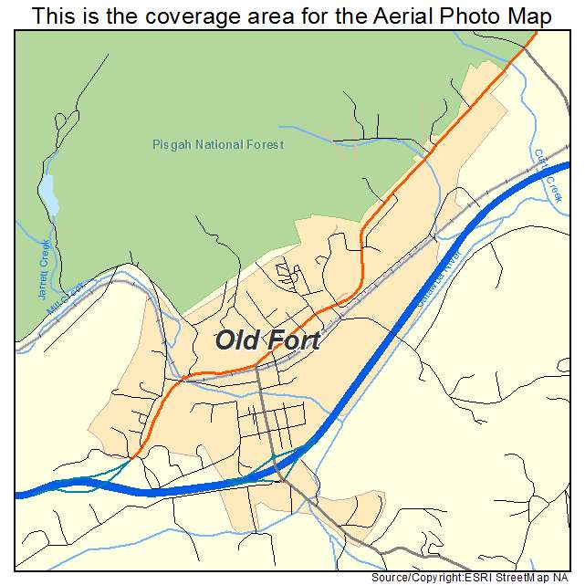 Old Fort Nc Map.Aerial Photography Map Of Old Fort Nc North Carolina