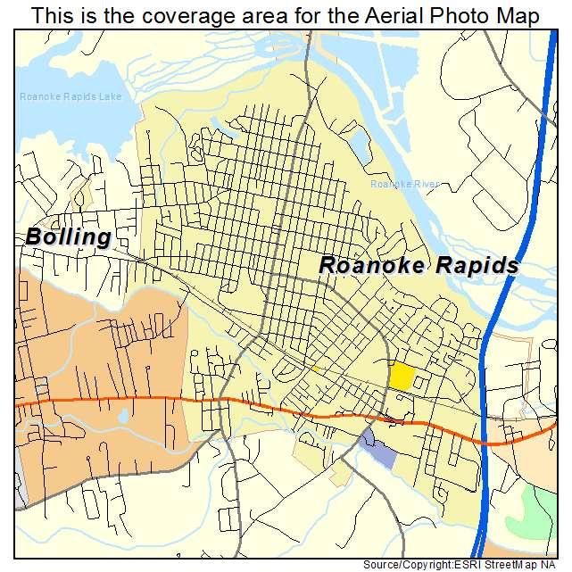 Aerial Photography Map Of Roanoke Rapids Nc North Carolina