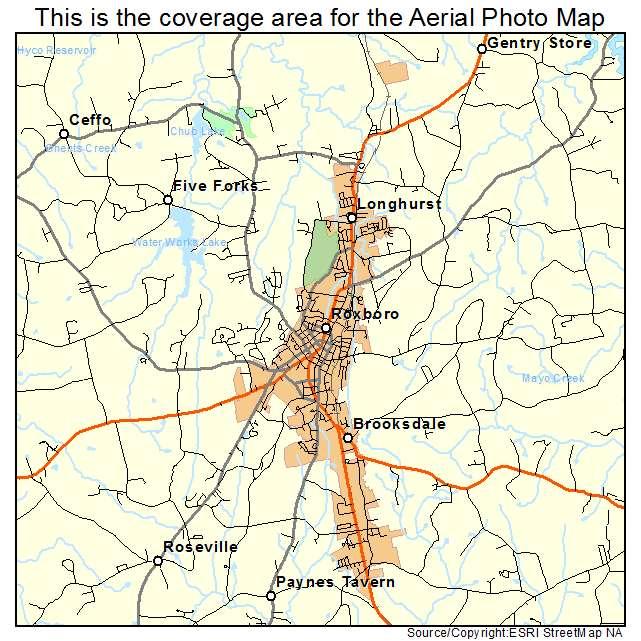 Aerial Photography Map Of Roxboro Nc North Carolina