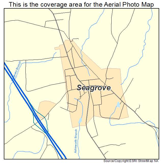 Aerial Photography Map of Seagrove, NC North Carolina