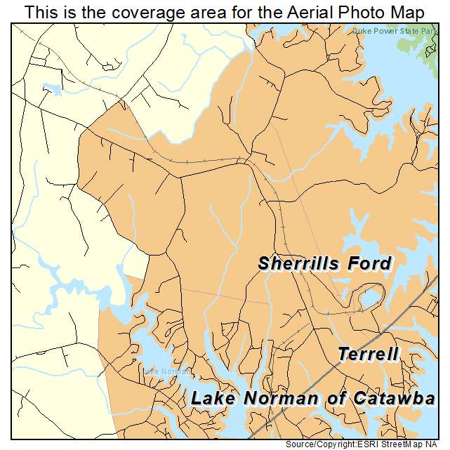 Aerial Photography Map Of Sherrills Ford Nc North Carolina