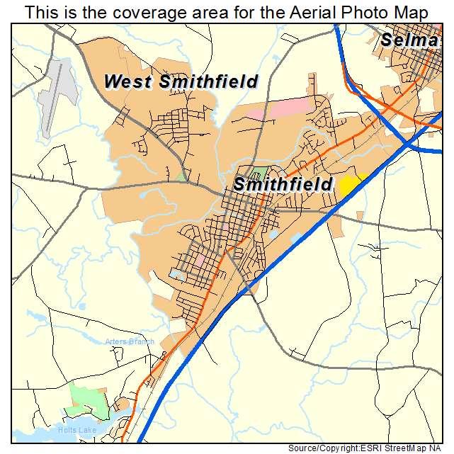 Aerial Photography Map Of Smithfield Nc North Carolina