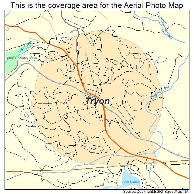 Aerial Photography Map Of Tryon Nc North Carolina