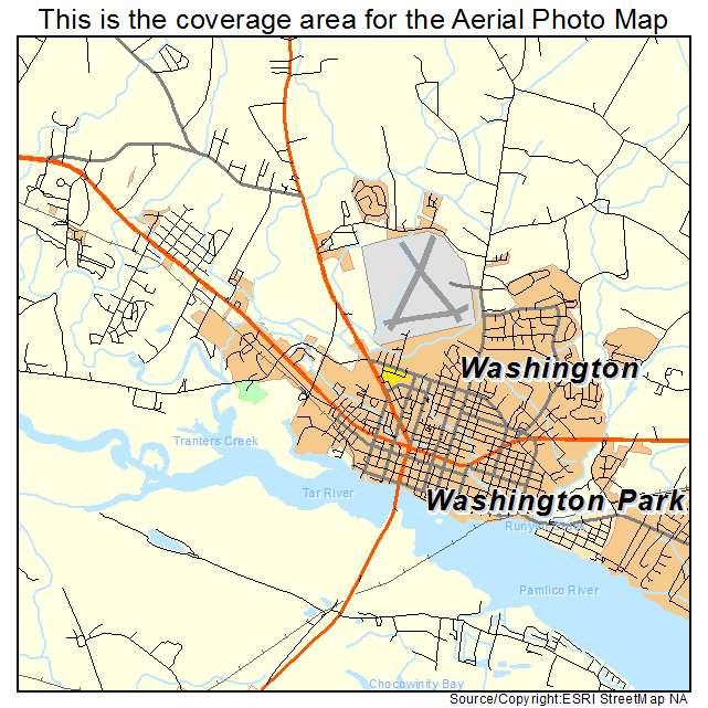 Aerial Photography Map Of Washington NC North Carolina