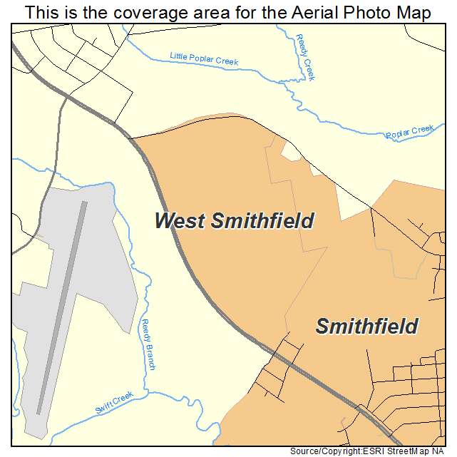 Aerial Photography Map Of West Smithfield Nc North Carolina