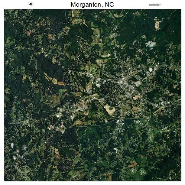 Morganton, NC air photo map