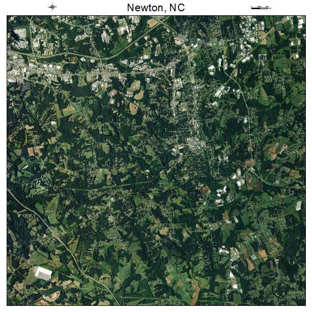 Newton, NC air photo map