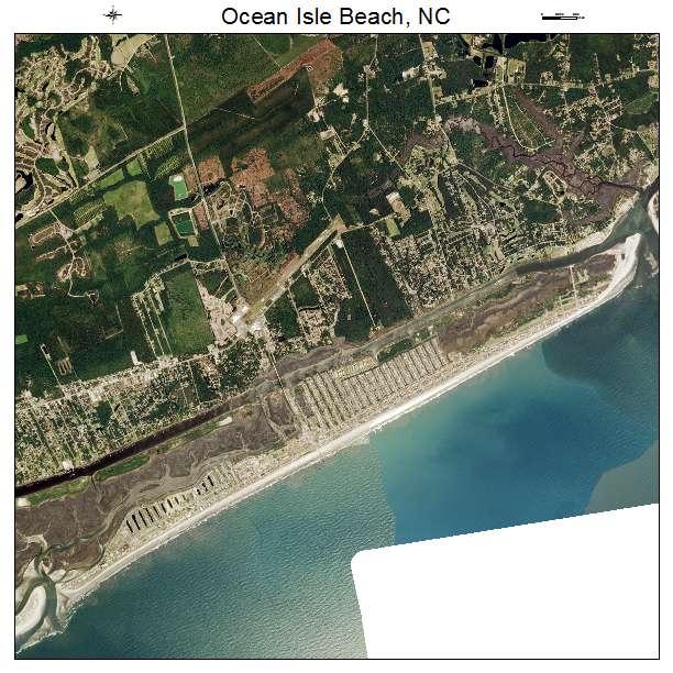 Ocean Isle Beach Nc Air Photo Map