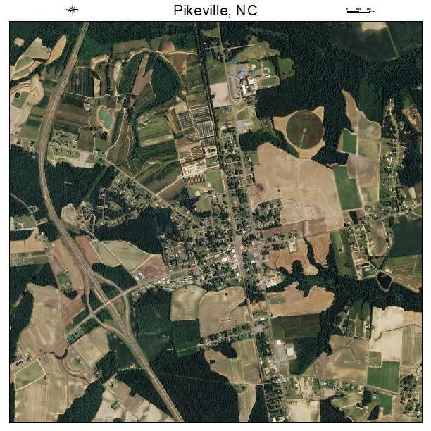 Pikeville Nc Map.Aerial Photography Map Of Pikeville Nc North Carolina