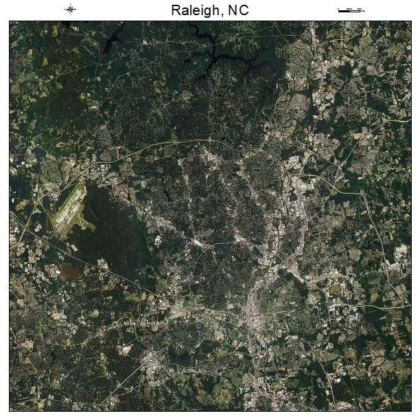 Raleigh, NC air photo map