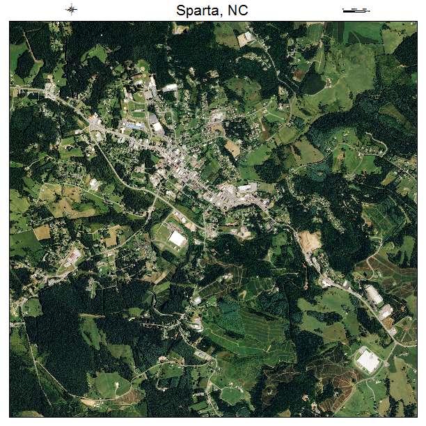Aerial Photography Map Of Sparta Nc North Carolina