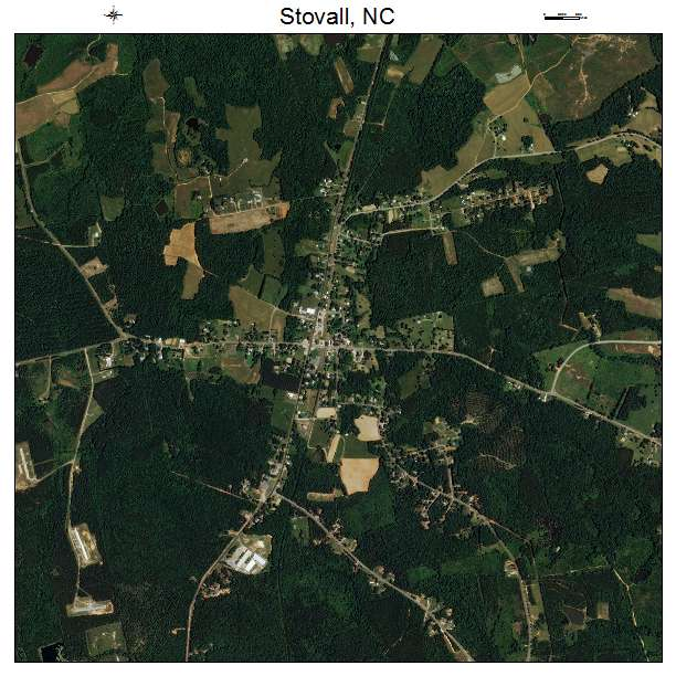 Stovall, NC air photo map