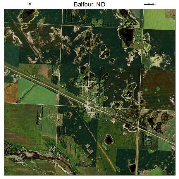Balfour, ND air photo map
