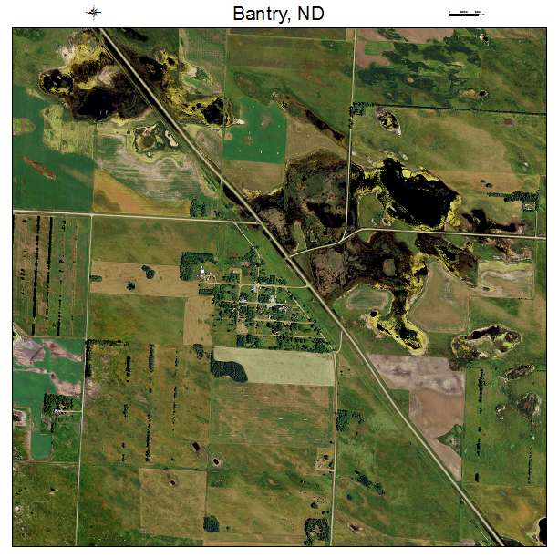 Bantry, ND air photo map