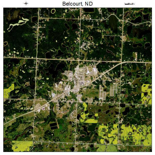 Belcourt, ND air photo map