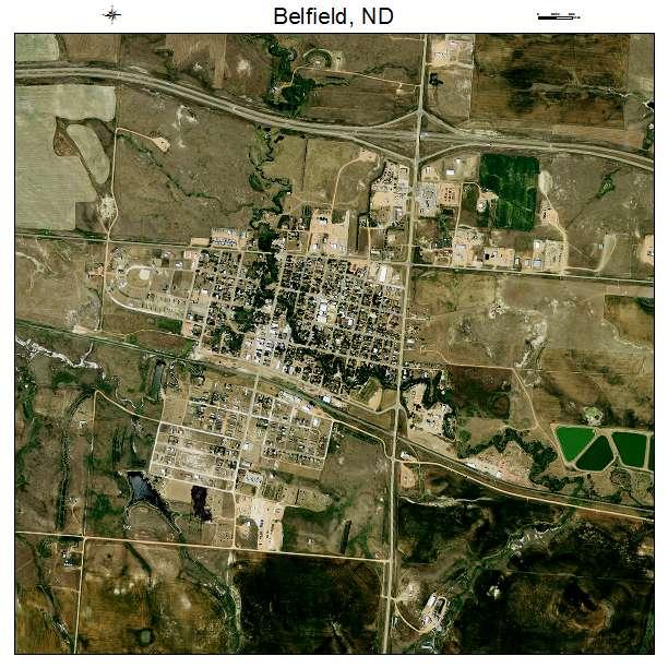 Belfield, ND air photo map