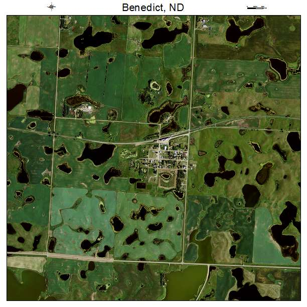 Benedict, ND air photo map