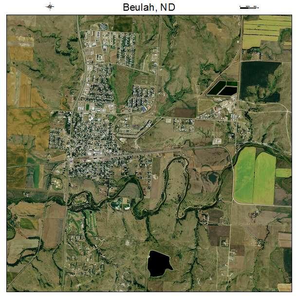 Beulah, ND air photo map
