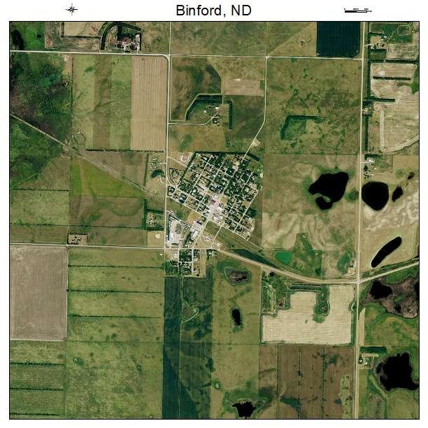 Binford, ND air photo map