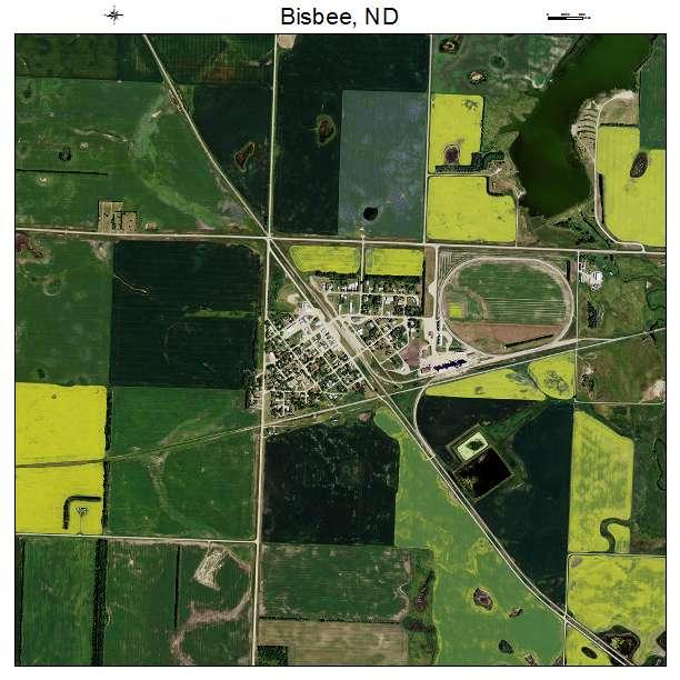 Bisbee, ND air photo map
