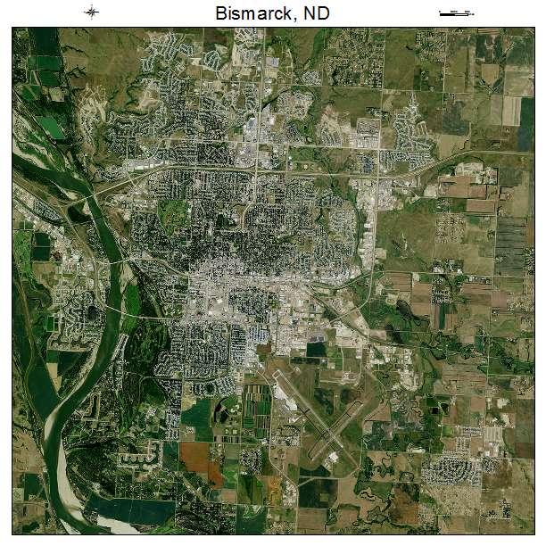 Bismarck, ND air photo map