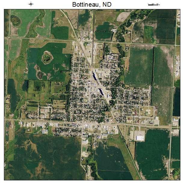 Bottineau, ND air photo map
