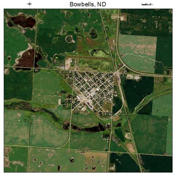 Bowbells, ND air photo map