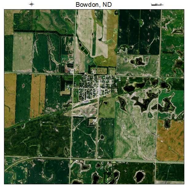 Bowdon, ND air photo map