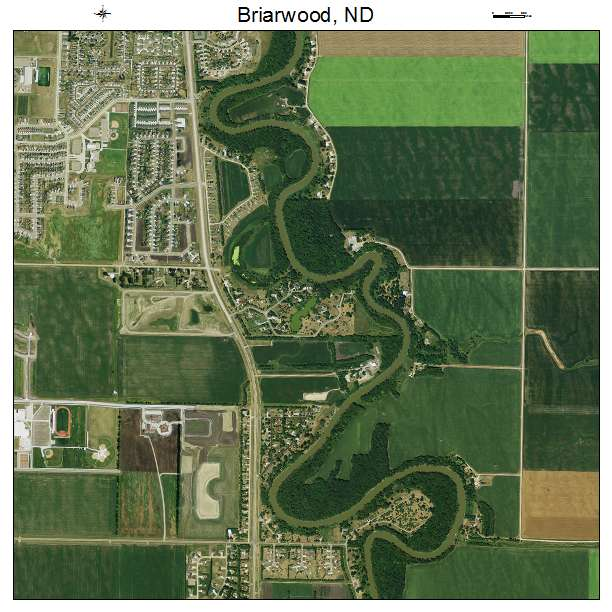 Briarwood, ND air photo map