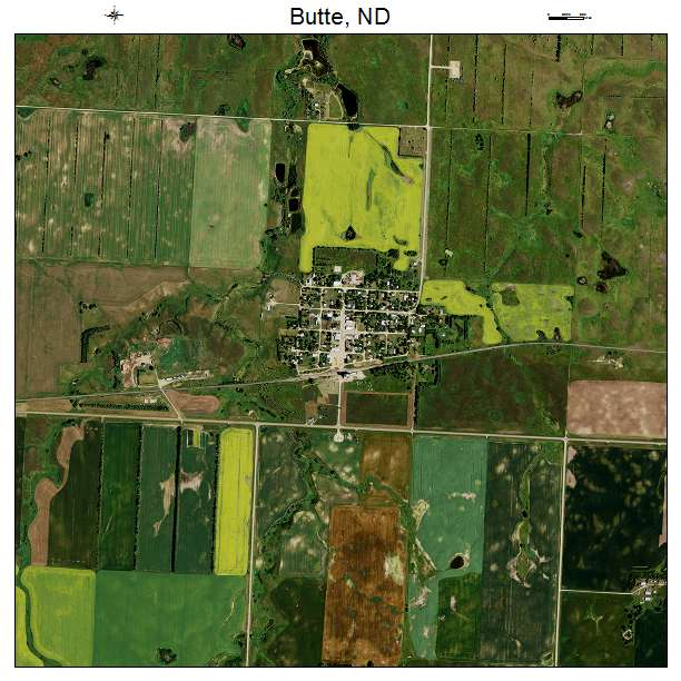 Butte, ND air photo map