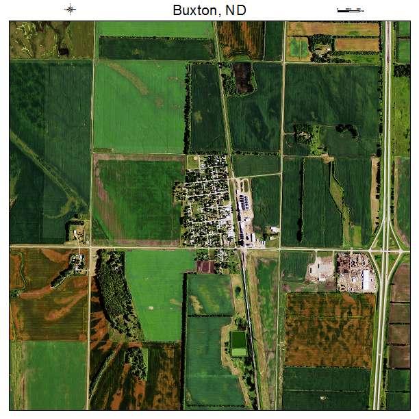 Buxton, ND air photo map