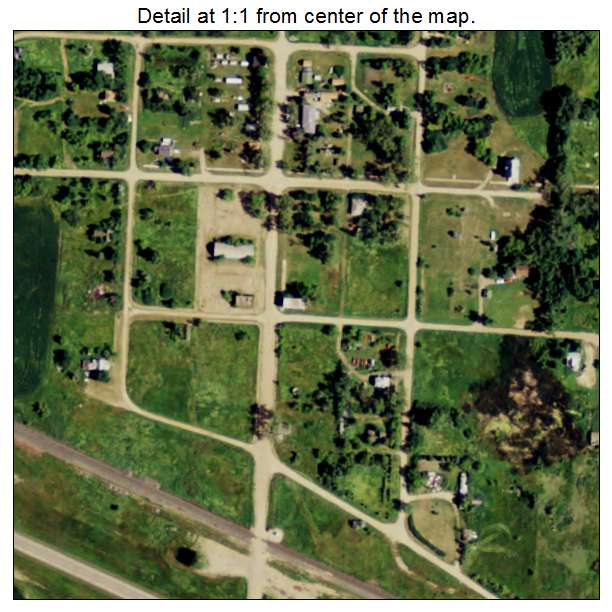 Balfour, North Dakota aerial imagery detail