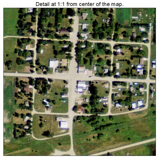 Balta, North Dakota aerial imagery detail