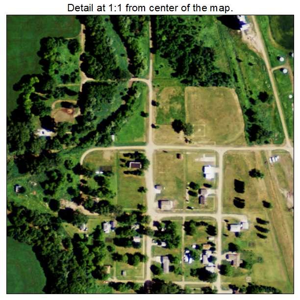 Bathgate, North Dakota aerial imagery detail