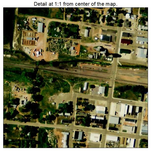 Beach, North Dakota aerial imagery detail