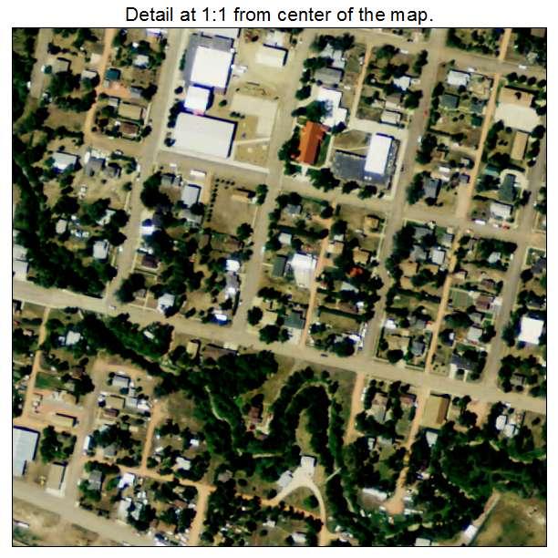 Belfield, North Dakota aerial imagery detail