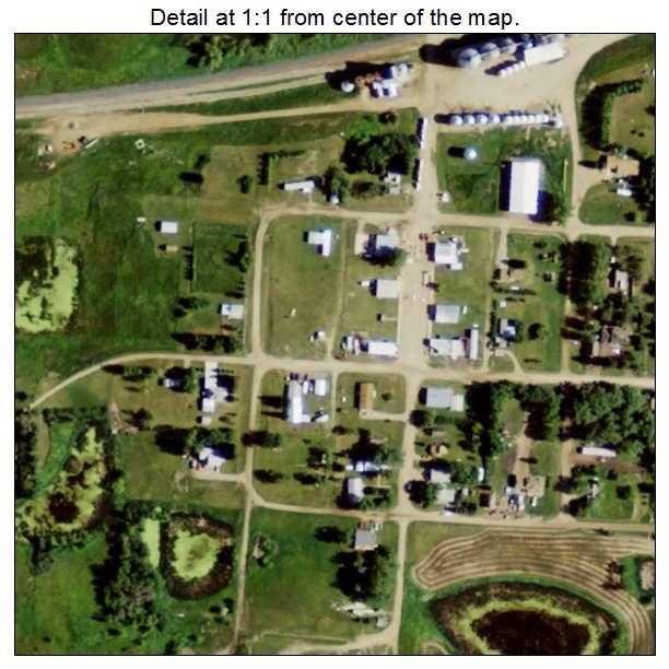 Benedict, North Dakota aerial imagery detail