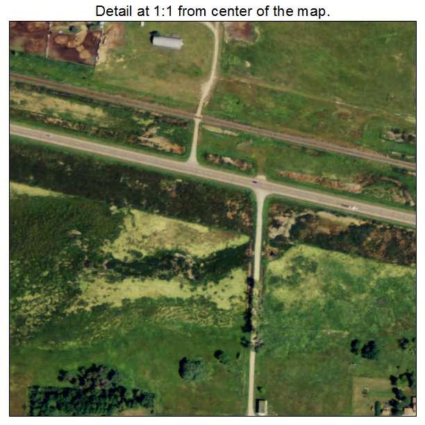 Bergen, North Dakota aerial imagery detail