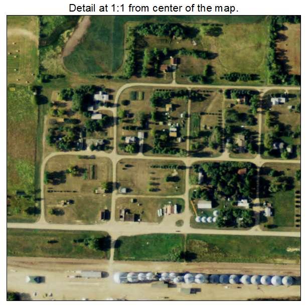 Berlin, North Dakota aerial imagery detail