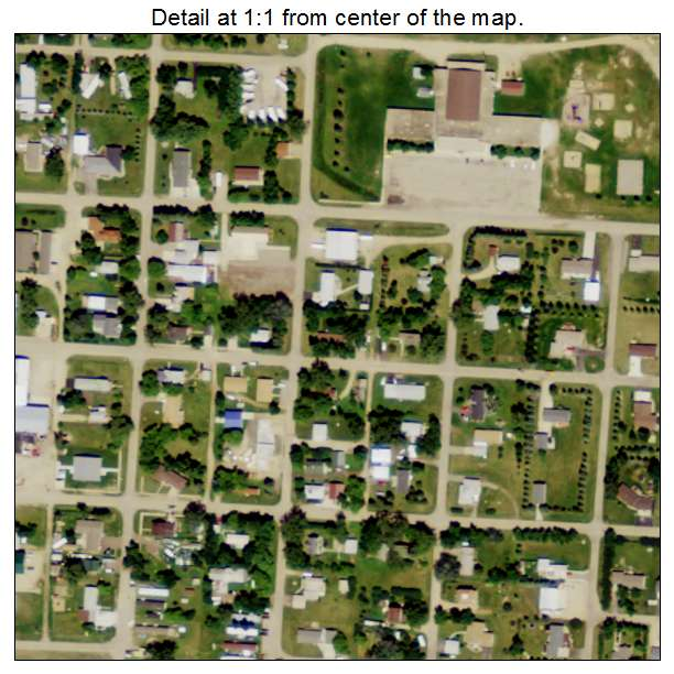 Berthold, North Dakota aerial imagery detail