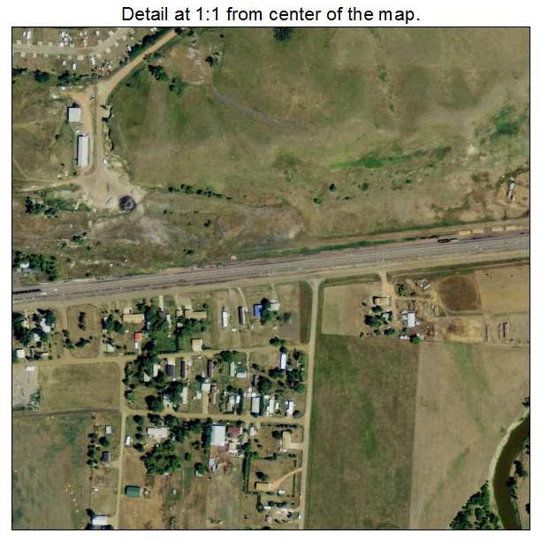 Beulah, North Dakota aerial imagery detail