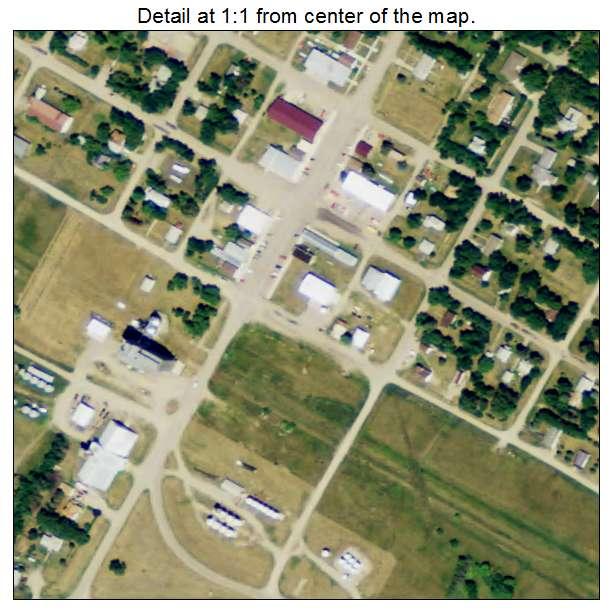 Binford, North Dakota aerial imagery detail