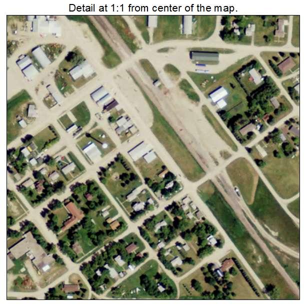 Bisbee, North Dakota aerial imagery detail