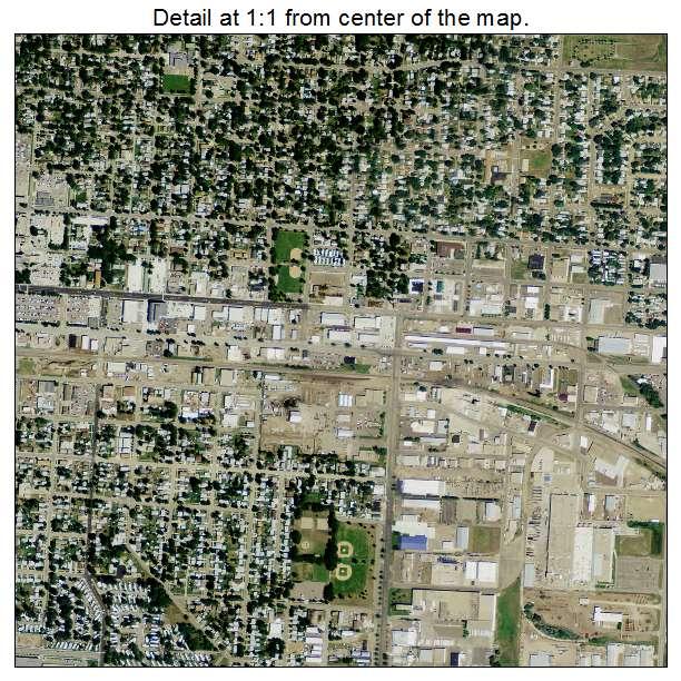 Bismarck, North Dakota aerial imagery detail