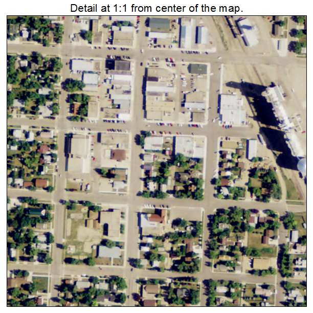Bottineau, North Dakota aerial imagery detail